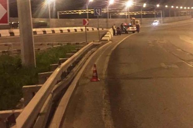 Место аварии на Бугринском мосту