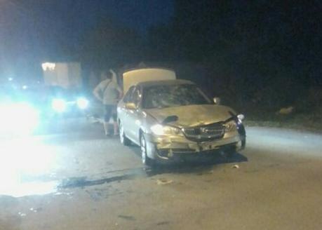 Авария произошла в 20:00 на улице Новоуральская
