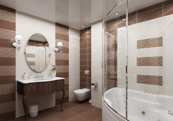 натяжной потолок пвх в ванной