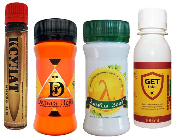 Микрокапсулированные препараты от насекомых, имеющие низкий уровень запаха.