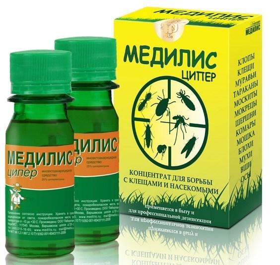 «Медилис Ципер» — концентрат против комаров для распыления